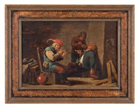interno di osteria con fumatori by david teniers the younger