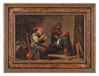 interno di osteria con fumatori by david teniers the younger