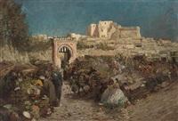 bab el souk, tangiers by george charles haite