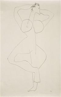 femme debout aux bras levés by henri laurens