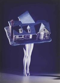 walking house (color) by laurie simmons
