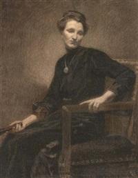 portrait of a woman by xavier mellery