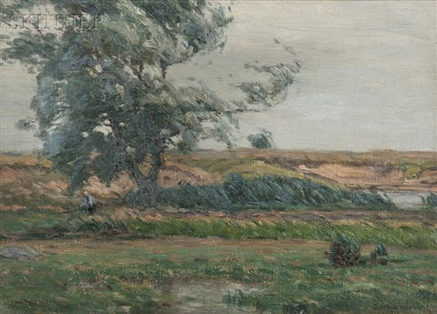 barbizon style landscape by gustave adolph wiegand