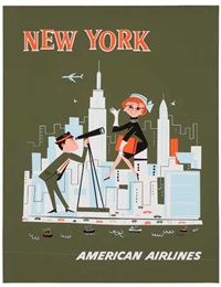 american airlines, new york by webber