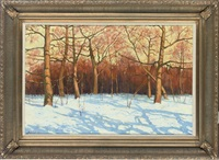 winter landscape, late afternoon by yevgeni gololobov