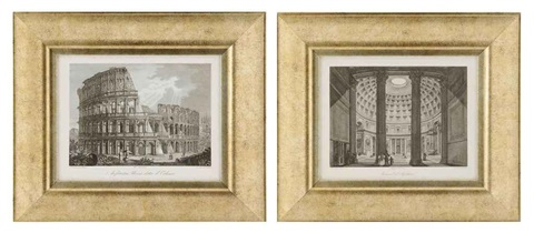 roman architectural view 13 others 14 works by domenico amici