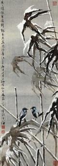 雪夜双禽 by huang huanwu
