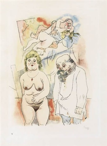 pappi und mammi from ecce homo by george grosz