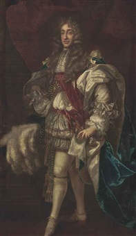 portrait of king james ii in garter robes by sir peter lely