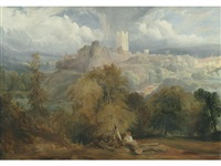 a view of richmond, yorkshire by copley fielding