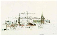 blick auf die dächer der wiener innenstadt by michael coudenhove-kalergi