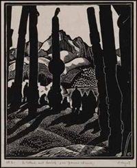 totem poles, no. 4 by edwin headley holgate