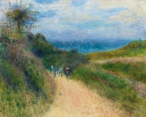 route à berneval by pierre auguste renoir