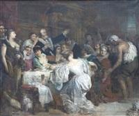 le banquet by françois edouard zier