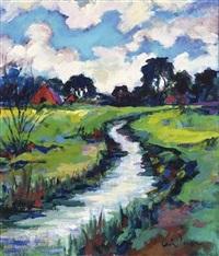 landschap met water drentse a by arie zuidersma