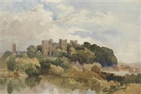 view of ludlow castle by edward duncan