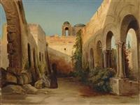 ein verfallener klosterhof in anacapri by karl blechen