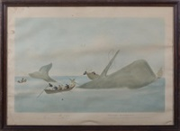 south sea whale fishery (after w.j. huggins) by edward duncan