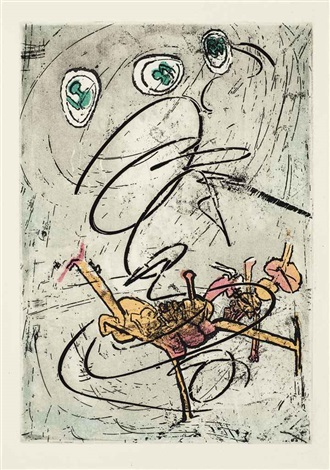 vigies sur cibles set of 8 works by roberto matta