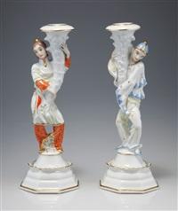 kerzenleuchter (pair) by constantin holzer-defanti