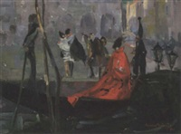 carnival figures at st. mark's, venice by vernon ward