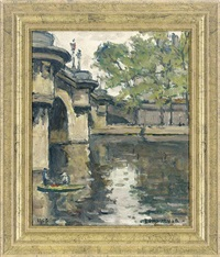 on the seine, by pont neuf (+ 2 others; 3 works) by maurice fongueuse