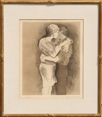 embrace by raphael soyer
