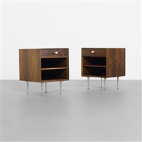 thin edge nightstands (model 5707) (pair) by george nelson & associates