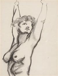 stehender weiblicher akt by renato guttuso