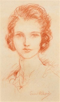 head of a woman by ernest h. shepard