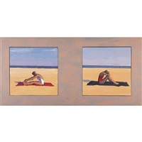 two bathers by graham nickson