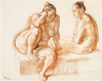 desnudos sentados by francisco zúñiga