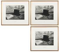 combien pour ce chapeau? (combien pour ce chapeau?, musée jules verne, 1987, an old hat) (set of 3) by louise lawler