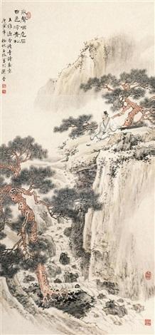 王维过香积寺诗意图 by li xingbang