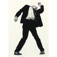 untitled (rick) (from men in the cities) by robert longo