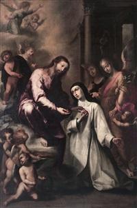 los desposorios místicos de santa catalina de siena by sebastian de llanos valdes