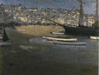 a mediterranean beach at low tide by f. arnold adlam