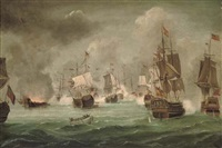 the battle of cape st. vincent, 14th february 1797 by robert ernest roe