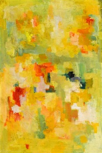composition in yellow and green by olga albizu