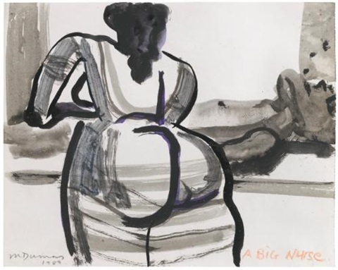 a big nurse by marlene dumas
