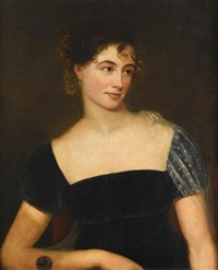 portrait of a lady believed to be betsy mulford sutliff (1792-1871) by ezra ames