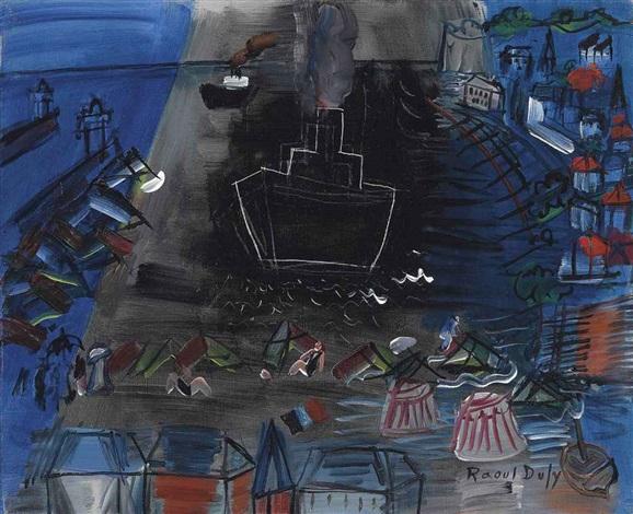 le cargo noir by raoul dufy