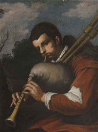 bagpipe player by antonio mercurio amorosi