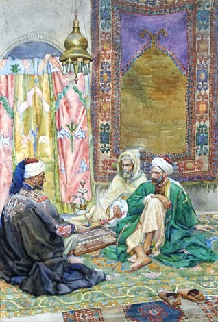 an arabian rug market by albert rosati
