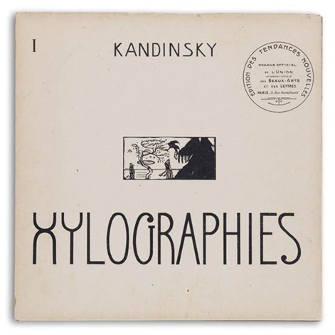 xylographies portfolio of 2 wtext and 5 xylographs by wassily kandinsky
