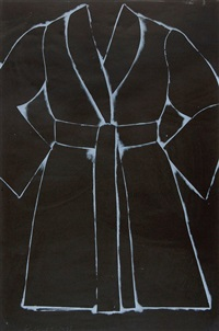 black and white bathrobe by jim dine