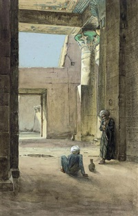 arabs at the ruins by michele la spina