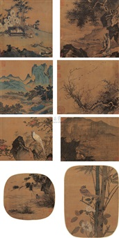 albums of song and yuan (album of 8, various sizes) by ma yuan