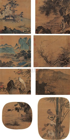 albums of song and yuan album of 8 various sizes by ma yuan