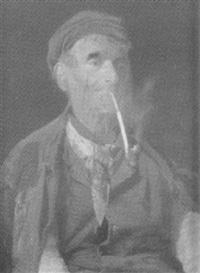 alter mann eine pfeife rauchend by rosalbino santoro